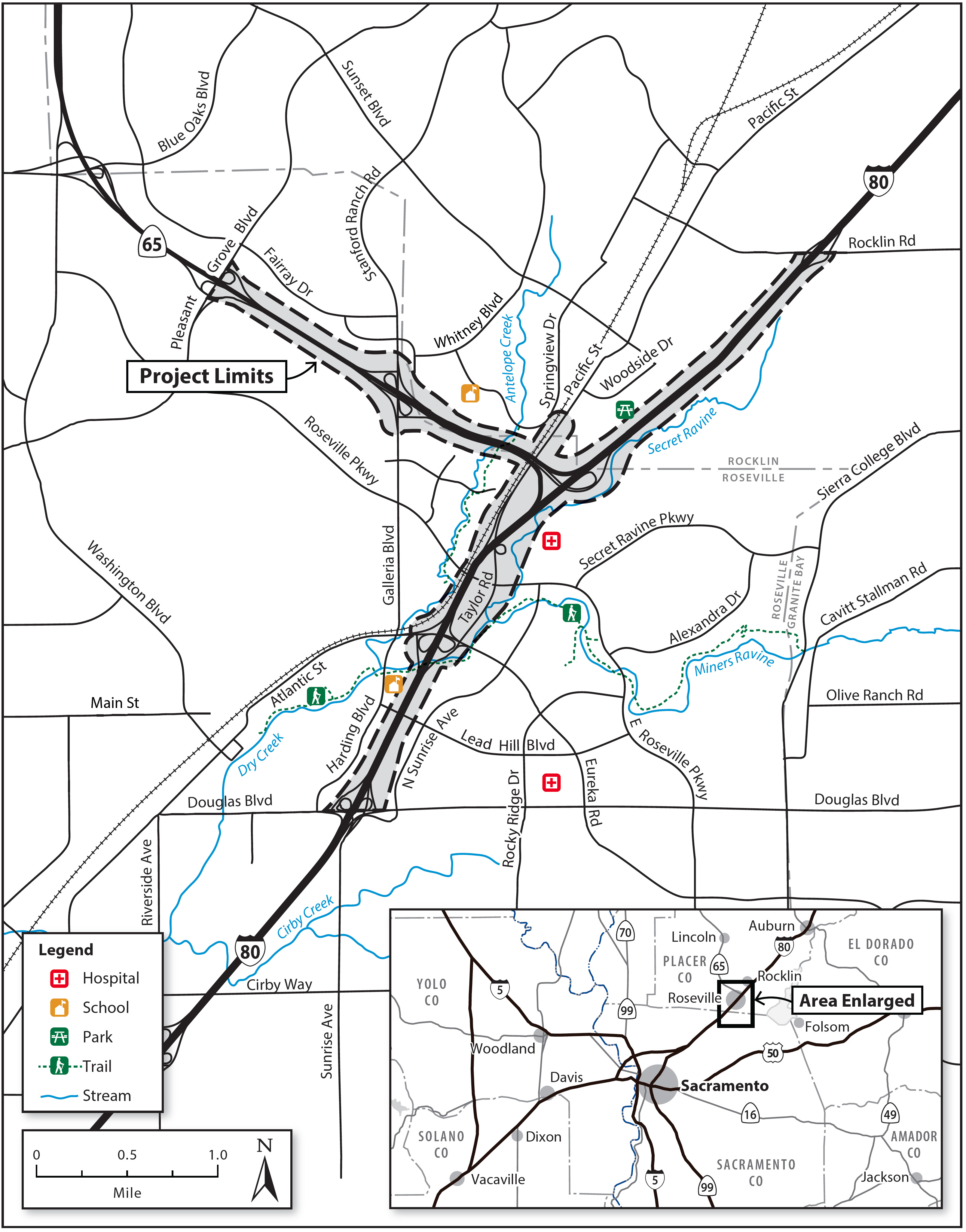Project Vicinity Map | I-80 / SR 65 Interchange Improvement